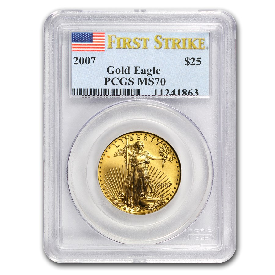 2007 1/2 oz Gold American Eagle MS-70 PCGS (FS)