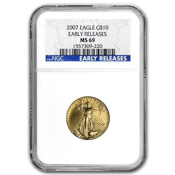 2007 1/4 oz American Gold Eagle MS-69 NGC (Early Releases)
