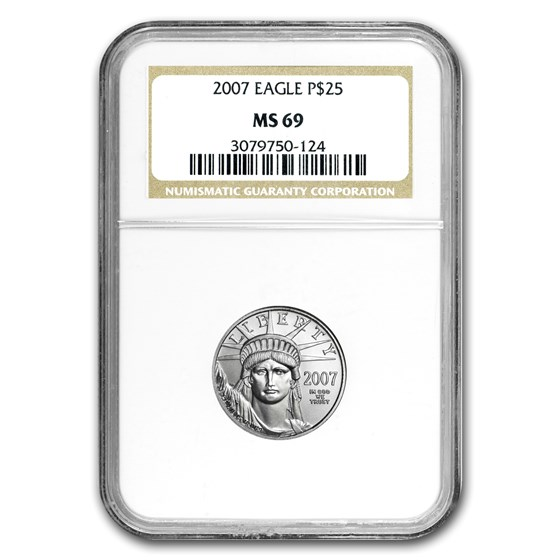 2007 1/4 oz American Platinum Eagle MS-69 NGC