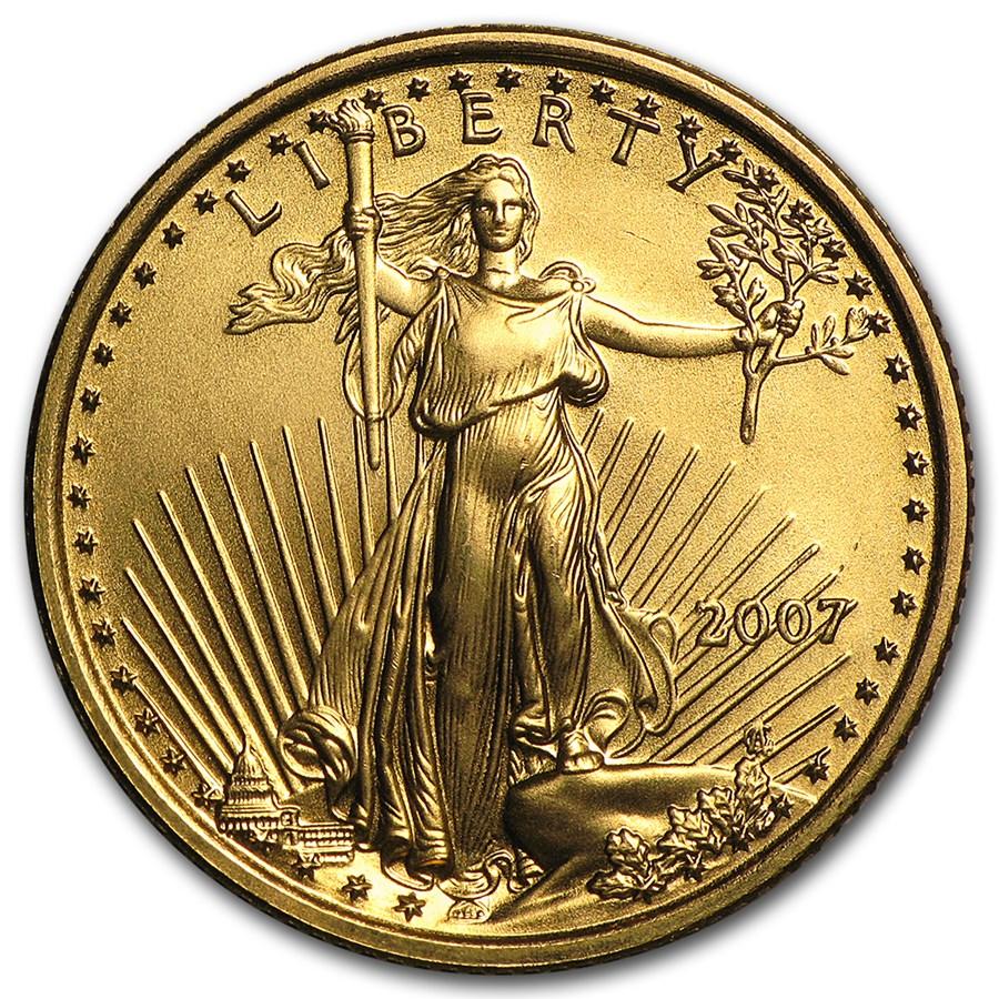 2007 1/4 oz Gold American Eagle BU