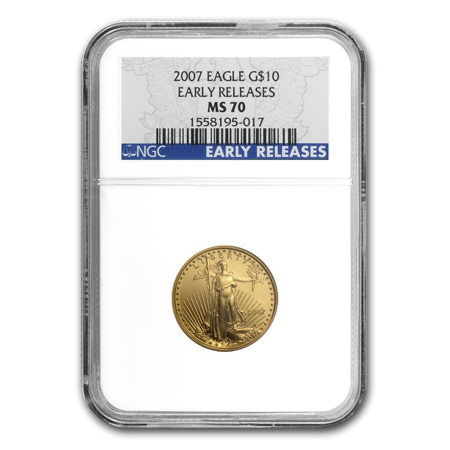2007 1/4 oz Gold American Eagle MS-70 NGC (Early Releases)