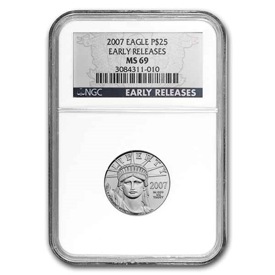 2007 1/4 oz Platinum American Eagle MS-69 NGC (Early Releases)