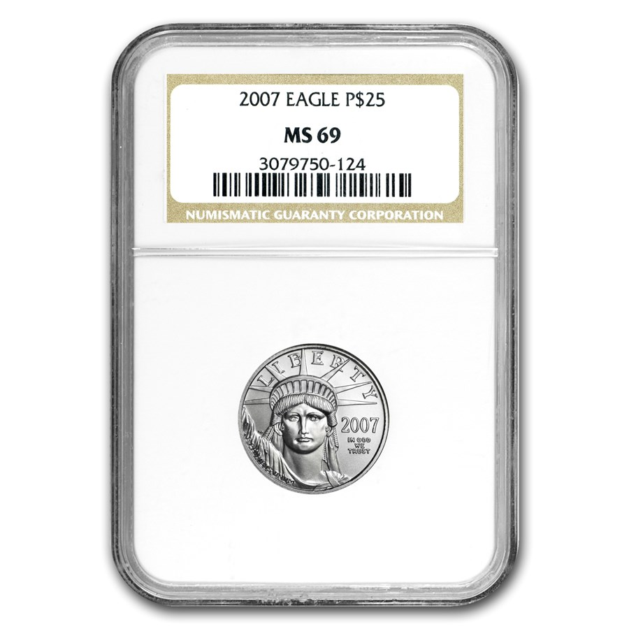 2007 1/4 oz Platinum American Eagle MS-69 NGC