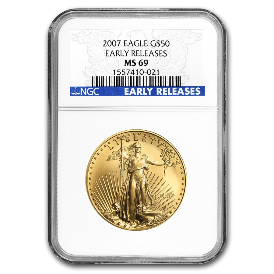 2007 1 oz American Gold Eagle MS-69 NGC (Early Releases)