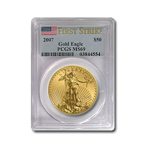 2007 1 oz Gold American Eagle MS-69 PCGS (FS)