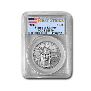 2007 1 oz Platinum American Eagle MS-70 PCGS (FirstStrike®)