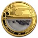 2007 1 oz Proof Gold Sapphire Treasures of Australia Locket Coin