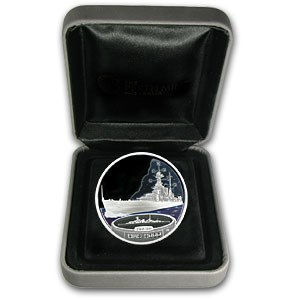2007 1 oz Proof Silver HMS Hood Fighting Ships of WWII