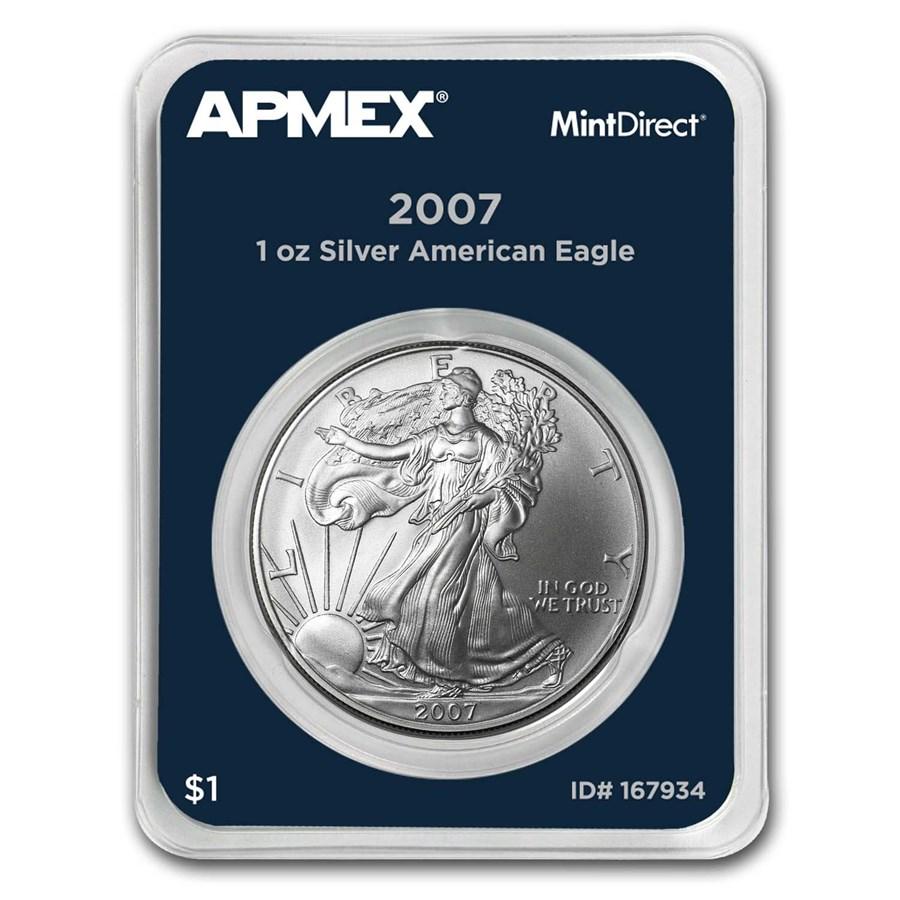 2007 1 oz Silver American Eagle (MintDirect® Single)