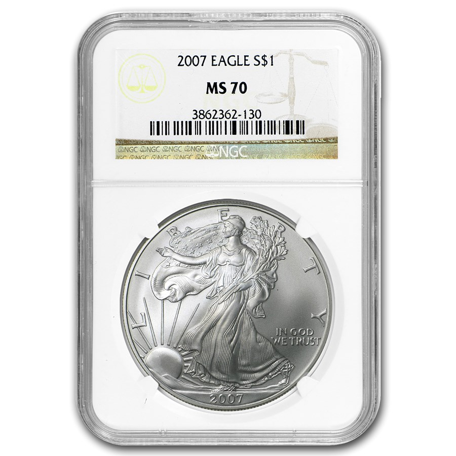 2007 American Silver Eagle MS-70 NGC