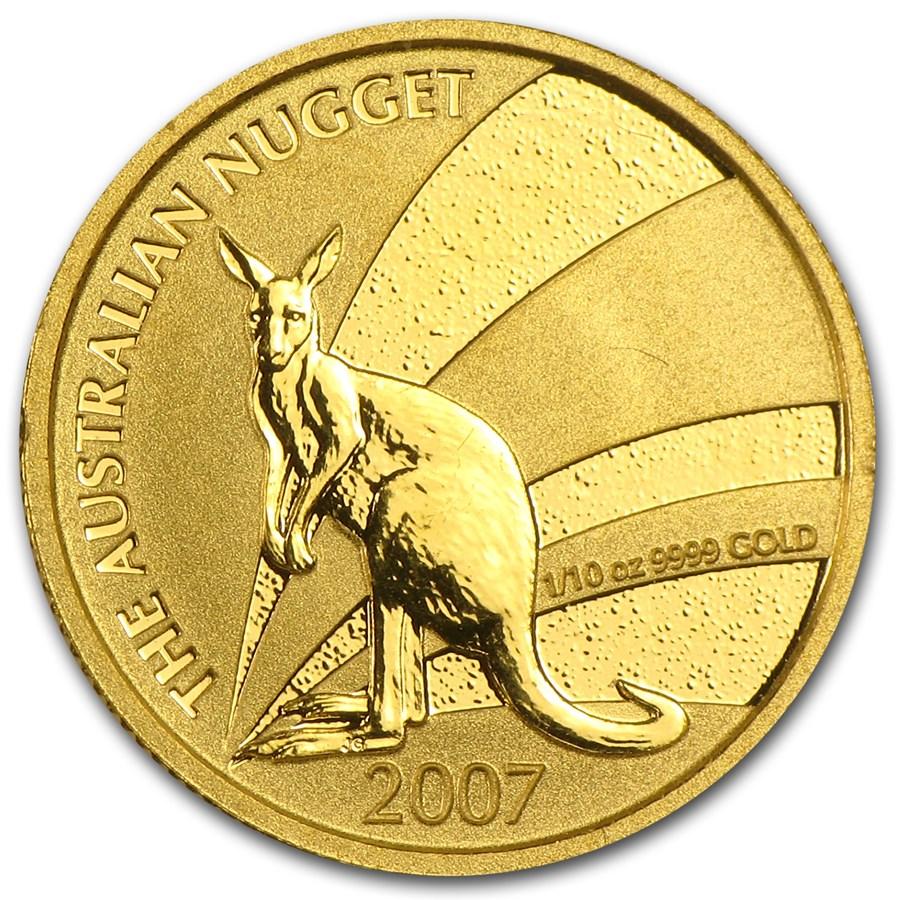 2007 Australia 1/10 oz Gold Nugget