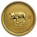 2007 Australia 1/4 oz Gold Lunar Pig BU (Series I)