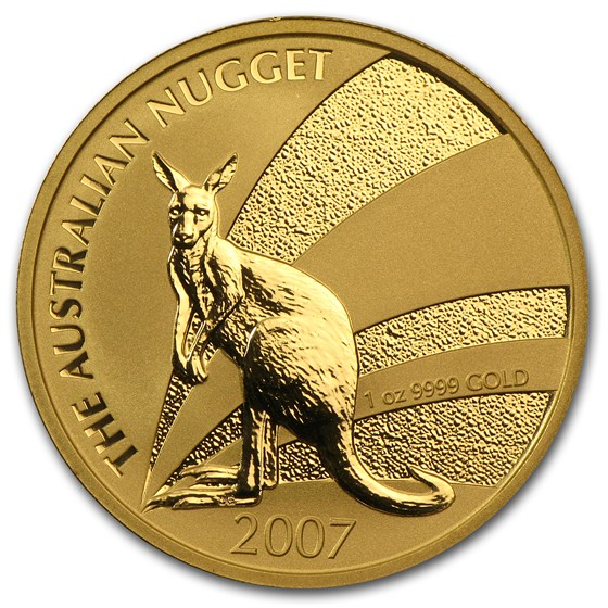 2007 Australia 1 oz Gold Nugget BU