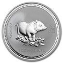 2007 Australia 1 oz Silver Year of the Pig BU (Series I)