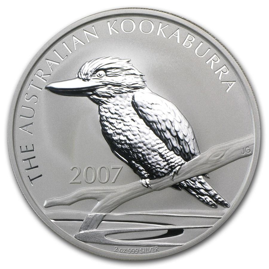 2007 Australia 2 oz Silver Kookaburra BU