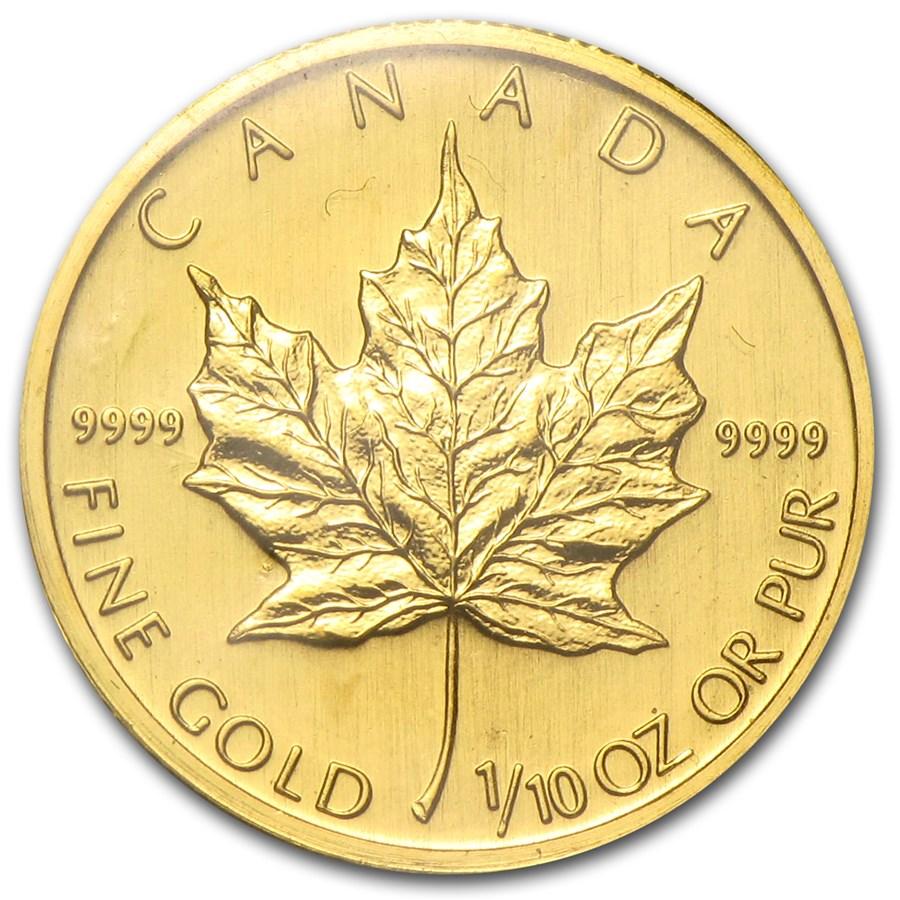 2007 Canada 1/10 oz Gold Maple Leaf BU