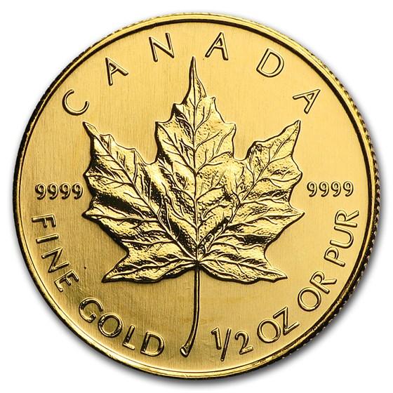 2007 Canada 1/2 oz Gold Maple Leaf BU