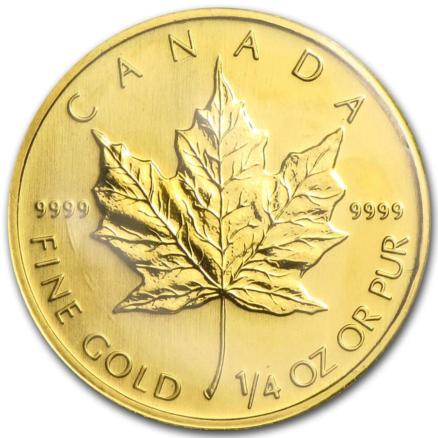 2007 Canada 1/4 oz Gold Maple Leaf BU