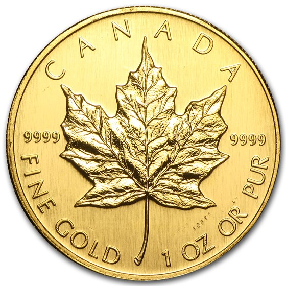 2007 Canada 1 oz Gold Maple Leaf BU