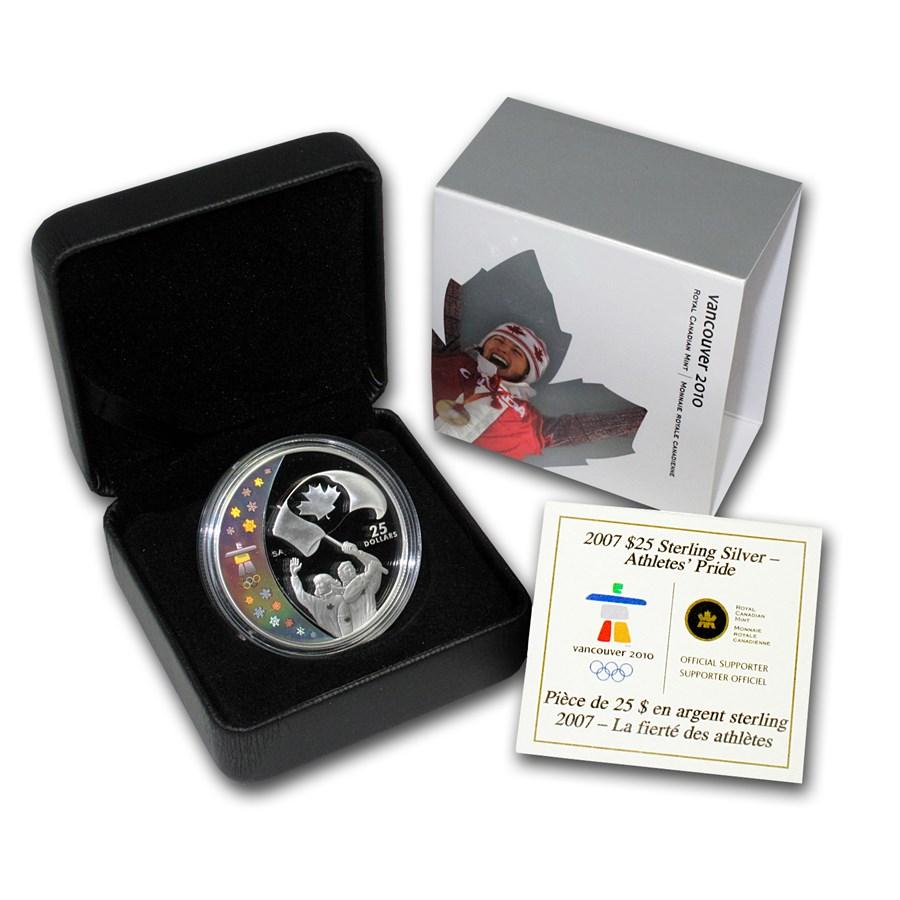 2007 Canada Silver $25 Olympic Pride (Hologram, w/Box & COA)