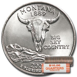 2007-D Montana Statehood Quarter 40-Coin Roll BU