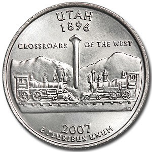 2007-D Utah State Quarter BU