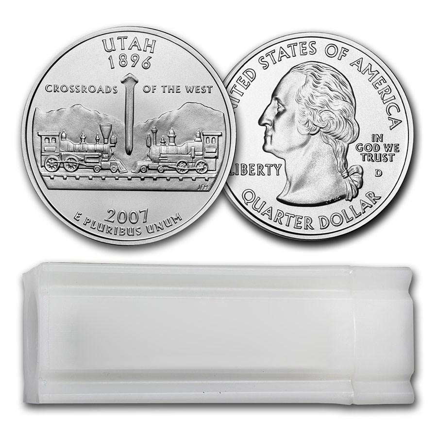 2007-D Utah Statehood Quarter 40-Coin Roll BU