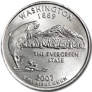 2007-D Washington State Quarter BU
