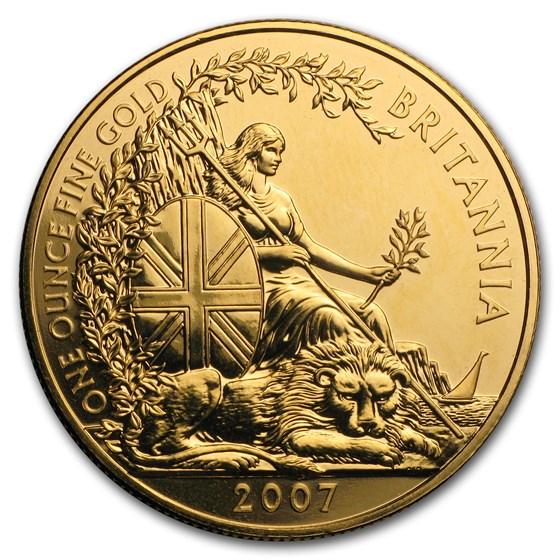 2007 Great Britain 1 oz Gold Britannia BU