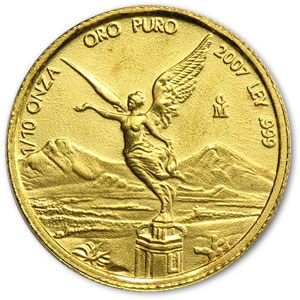 2007 Mexico 1/10 oz Gold Libertad BU
