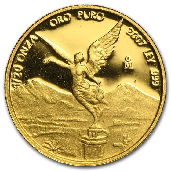 2007 Mexico 1/20 oz Proof Gold Libertad