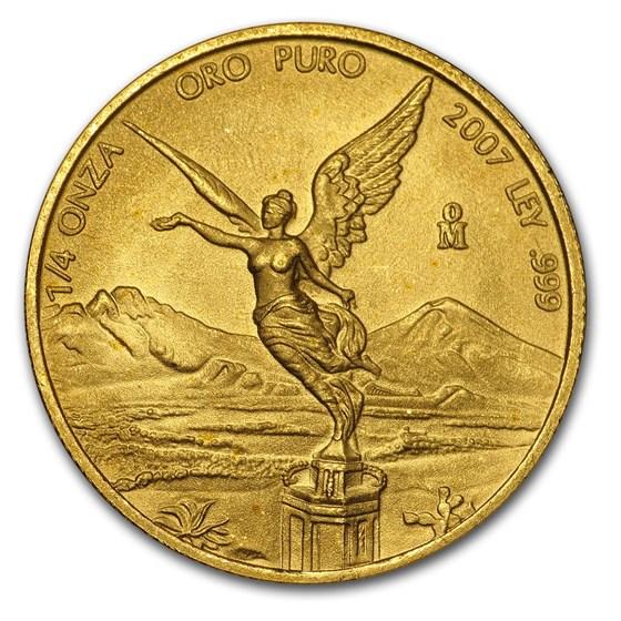 2007 Mexico 1/4 oz Gold Libertad BU