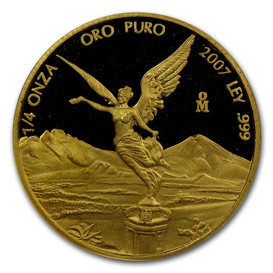 2007 Mexico 1/4 oz Proof Gold Libertad