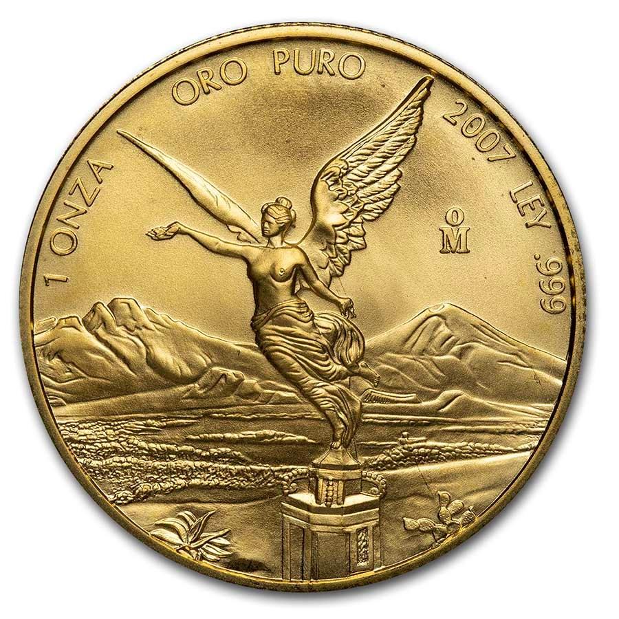 2007 Mexico 1 oz Gold Libertad BU