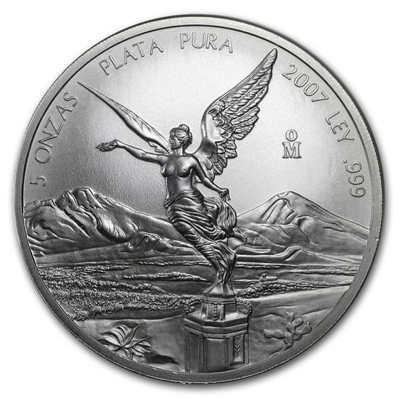 2007 Mexico 5 oz Silver Libertad BU