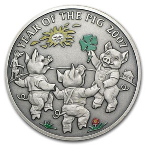 2007 Niue Chinese Calendar Series Year of the Pig The Piglets