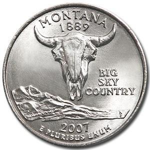 2007-P Montana State Quarter BU
