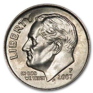 2007-P Roosevelt Dime BU