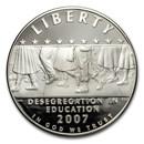 2007-P School Desegregation $1 Silver Commem Proof (Capsule Only)
