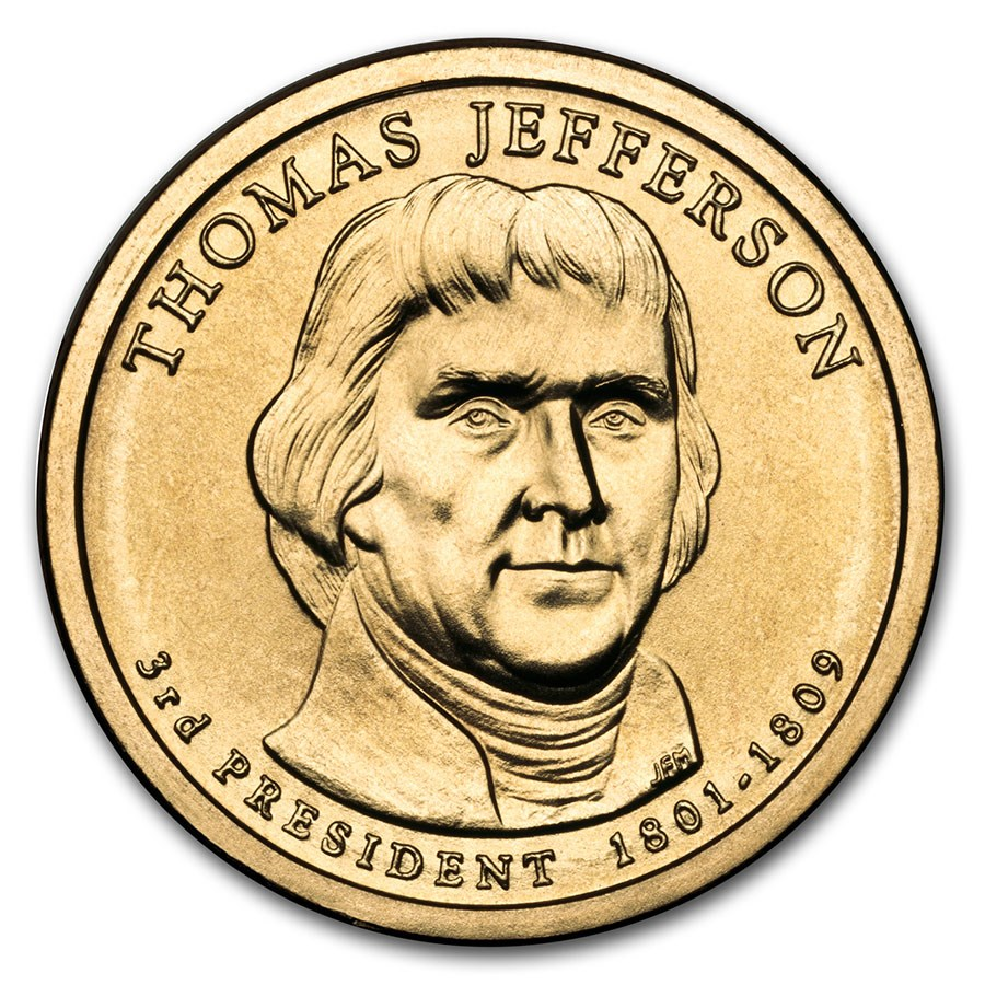2007-P Thomas Jefferson Presidential Dollar BU
