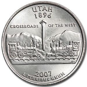 2007-P Utah State Quarter BU