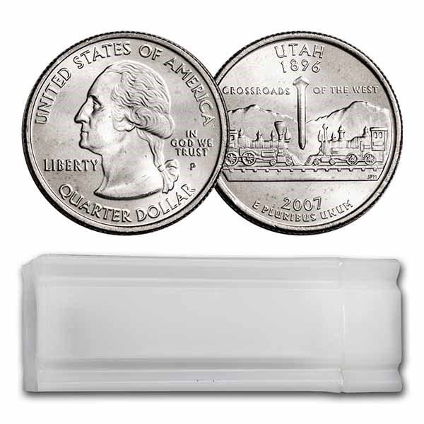 2007-P Utah Statehood Quarter 40-Coin Roll BU