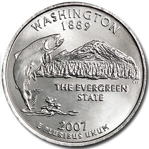 2007-P Washington State Quarter BU