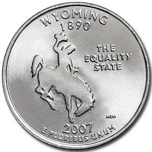 2007-P Wyoming State Quarter BU