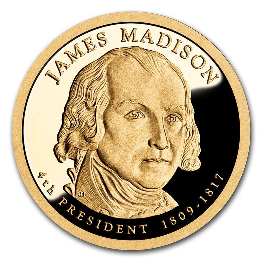 2007-S James Madison Presidential Dollar Proof