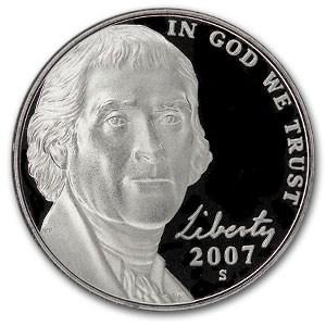 2007-S Jefferson Nickel Gem Proof