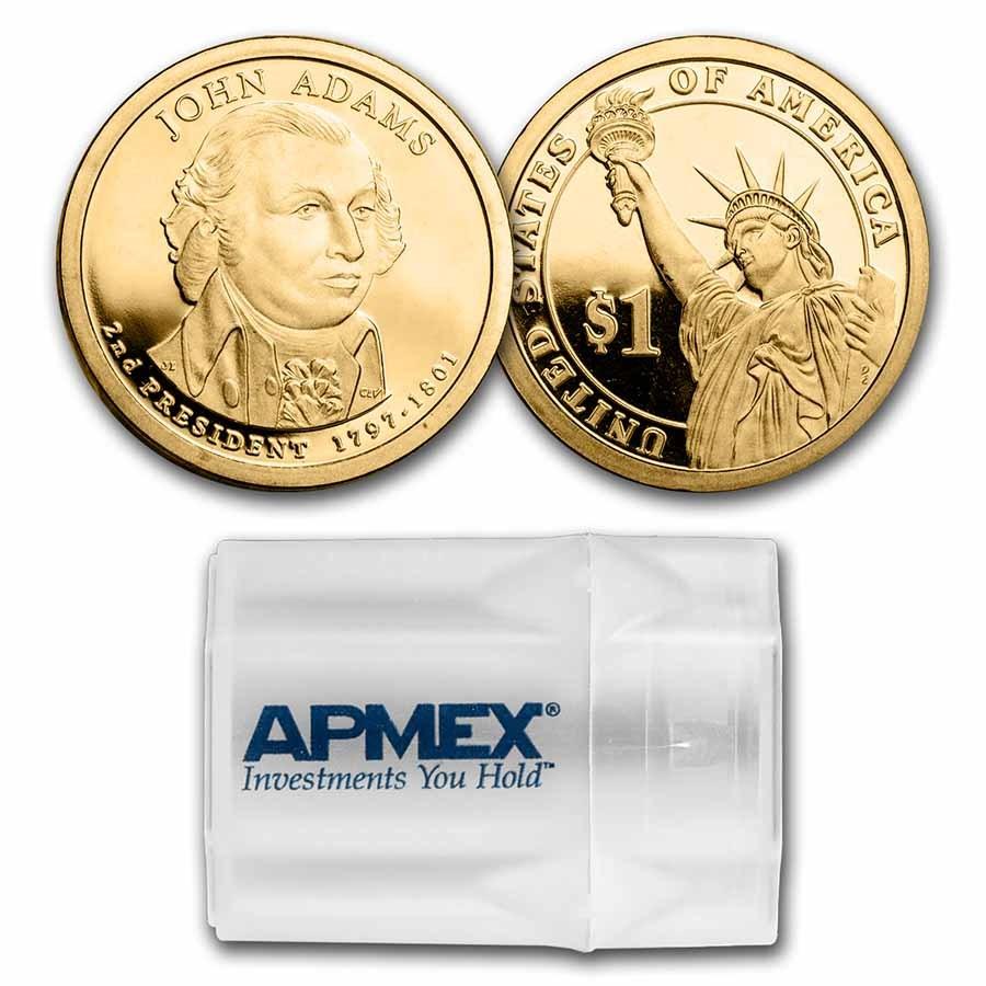 2007-S John Adams 20-Coin Presidential Dollar Roll PR