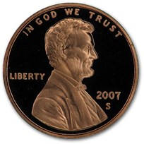 2007-S Lincoln Cent Gem Proof (Red)