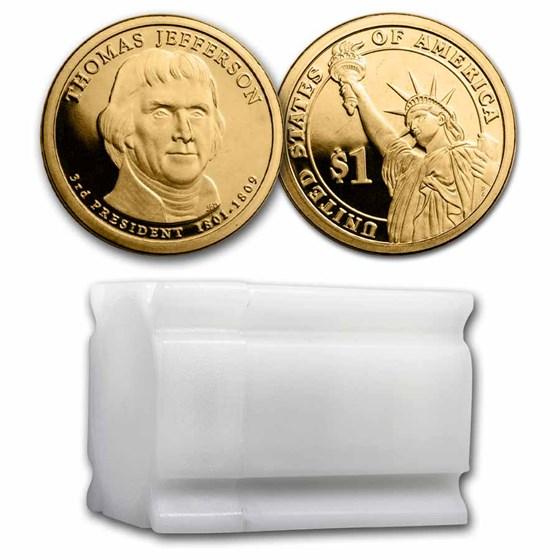 2007-S Thomas Jefferson 20-Coin Presidential Dollar Roll PR