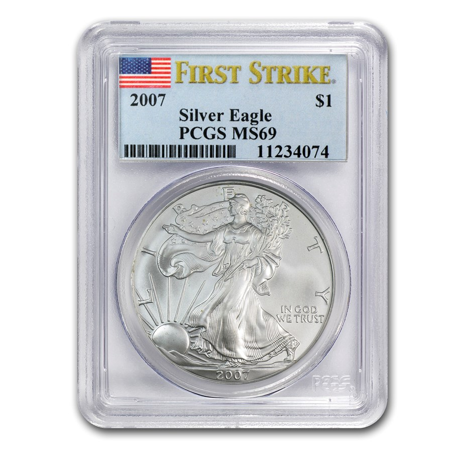 2007 Silver American Eagle MS-69 PCGS (FirstStrike®)